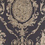 LWP65707W Abbeywood Damask Gilded Ebony by Ralph Lauren